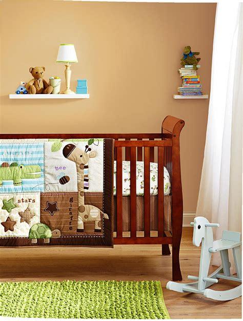 Baby Boy Crib Bedding Set by Safari Neutral Baby Boy 8 Pieces Nursery Crib Bedding