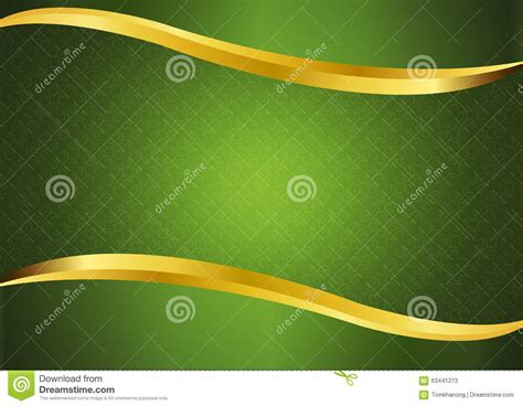 luxury green  gold lines background vector design