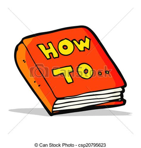 books on how to a vector illustration of how to book csp20795623 search clipart illustration