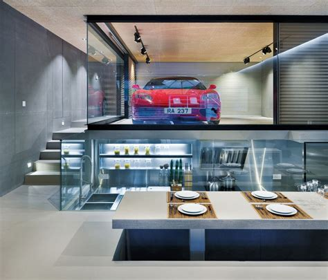 Split Level Home Designs A Ferrari Is The Centerpiece Of A Home In Hong Kong