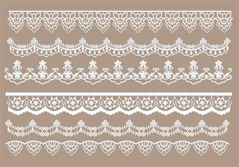 Lace Trim Lace lace trim vectors free vector stock