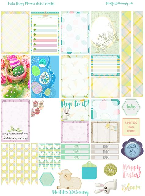 free printable easter planner free printable easter planner sticker sler from mint