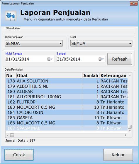 Software Klinik Dan Apotek Apotik laporan penjualan dan laporan pembelian software apotik