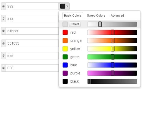 jquery mobile exles bootstrap color 28 images flat color picker responsive