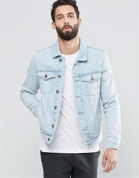 light blue denim jacket river island river island denim jacket in light wash blue
