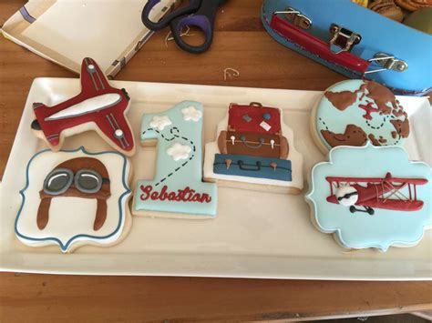 Vintage Airplane Birthday Decorations by Vintage Airplanes Word Travel Birthday Ideas Photo
