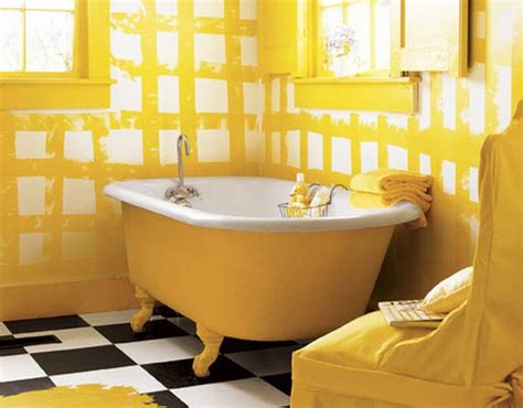 15 Yellow Inspiring Interiors Freshome Com Yellow Painted Bathrooms
