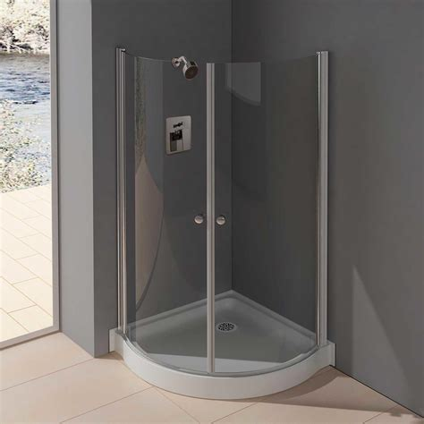 Shower Stall Glass Doors 38 Quot X 38 Quot Belem Corner Shower Enclosure With Tray Polished Chrome With Ebay