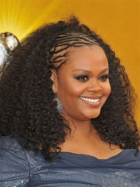 afro and cornrows braided front w afro 1 jpg 30 best natural hairstyles for african american women