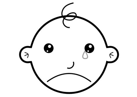coloring page of crying baby coloring page crying img 19276
