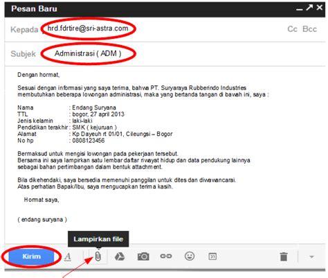10 contoh surat lamaran kerja via email ben
