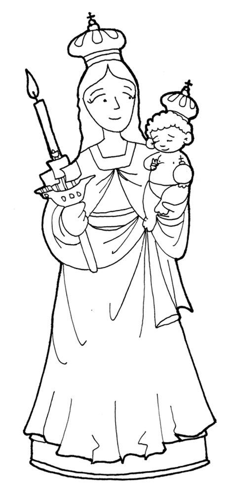 imagenes virgen maria para dibujar dibujo de la virgen de chiquinquira para colorear imagui