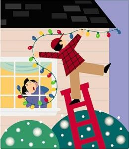 safe christmas lights ladder safety and hanging lights