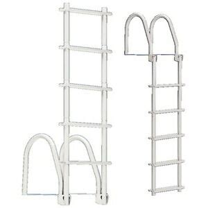 400 Lb Capacity Ladder by 5 Step White Galvalume Fold Up Dock Ladder 400 Lb Weight