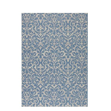 decorator rugs home decorators collection bermuda blue chagne 8 ft 6 in x 13 ft area rug 9558650310 the