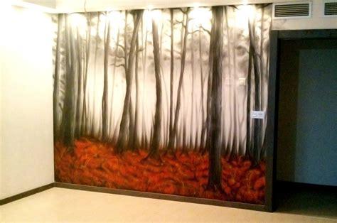 decoracion mural perdigrafia aerograf 237 a en zaragoza mural sal 243 n bosque