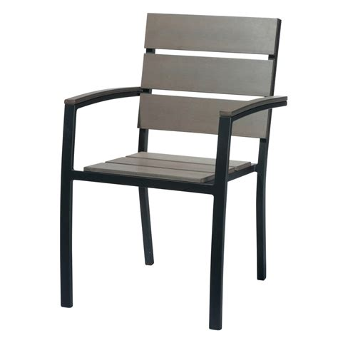 Charcoal Grey Armchair by Aluminium Garden Armchair In Charcoal Grey Escale