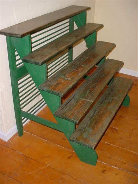 vintage  tier stair step wood plant display stand ebay
