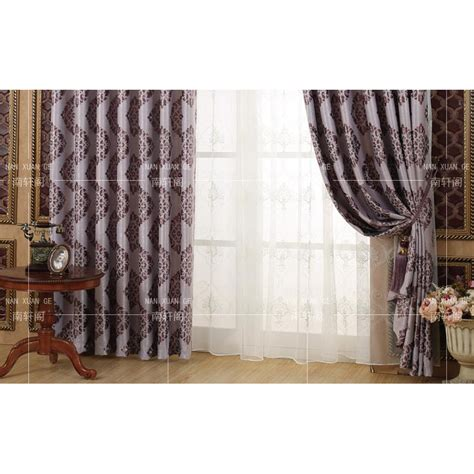 damask bedroom curtains purple damask jacquard polyester insulated bedroom curtains