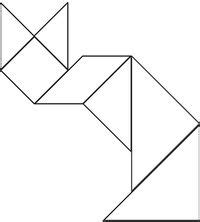 shape puzzle house b w easy cut out the shapes and printable tangram puzzles