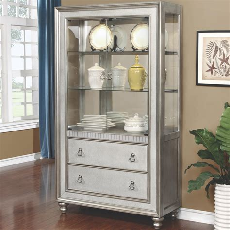 Bling Game Curio Cabinet with 3 Shelves and 2 Drawers