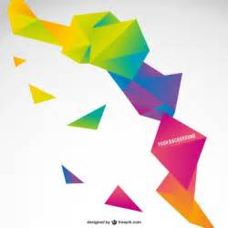 Origami Templates by Origami Colorful Abstract Template Vector Free