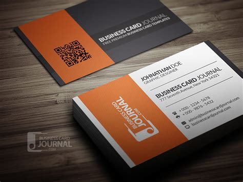 contrasting modern corporate business card templatepixshub