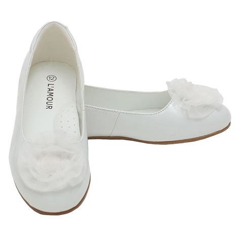 l amour white flower slip on dress shoes toddler 5