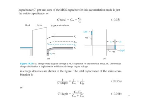 mos capacitor depletion chapter 10