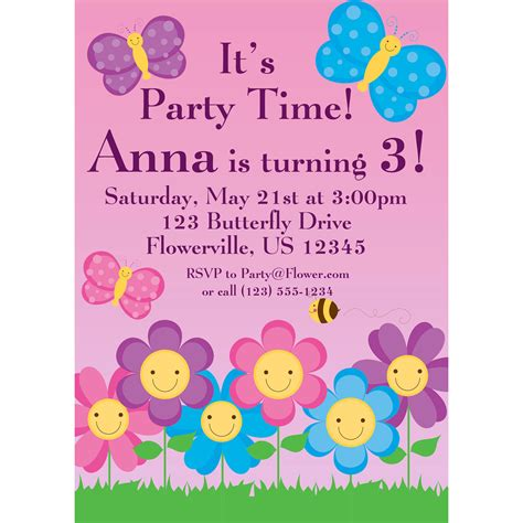 printable birthday invitations butterfly butterfly invitation pink and purple polka dot butterflies