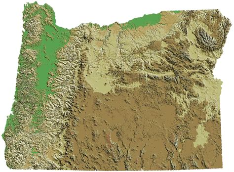 map of oregon landforms oregon state information and facts at 4
