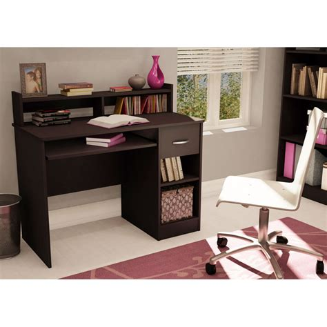 chocolate brown computer desk axess small desk in chocolate brown dcg stores