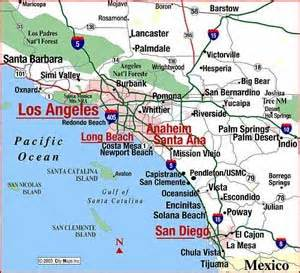 southern california towns map south coast of california guide california