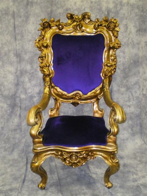 Royal Chair Rental Throne Santa Chair Purple Velvet