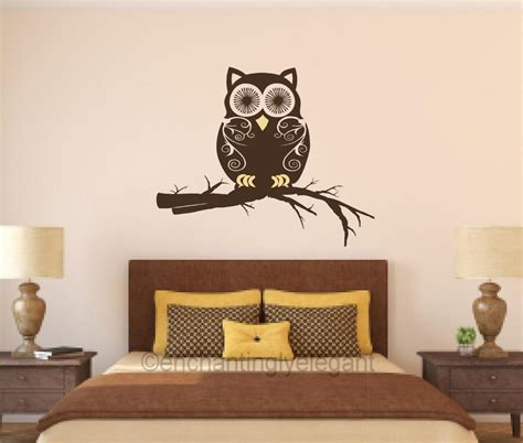 owl decor for room owl on branch vinyl decal wall sticker mural nursery room bathroom decor ebay