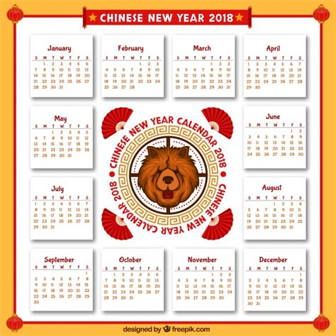 new year in china 2018 2018 new year calendar vector free