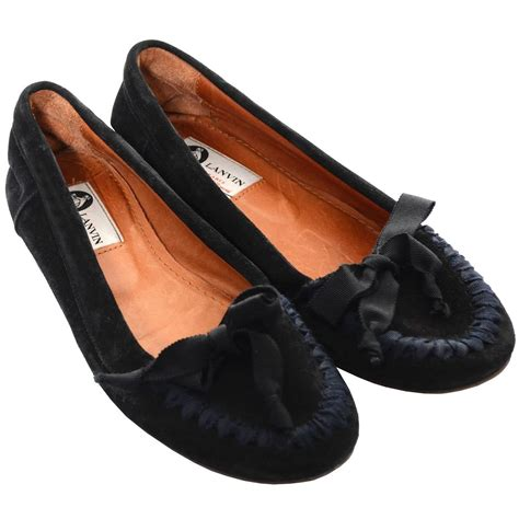 1 998 Flat Shoes Fashion Ribbon lanvin black suede flats shoes ribbons bows loafers size 38 6 5 at 1stdibs