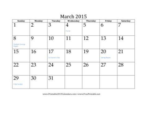 printable daily calendar march 2015 printable march 2015 calendar