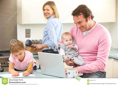 Attractive Mother Daughter Home Plans #4: Family-busy-together-kitchen-24161777.jpg