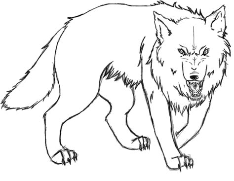 angry wolf coloring page angry wolf by figielek on deviantart