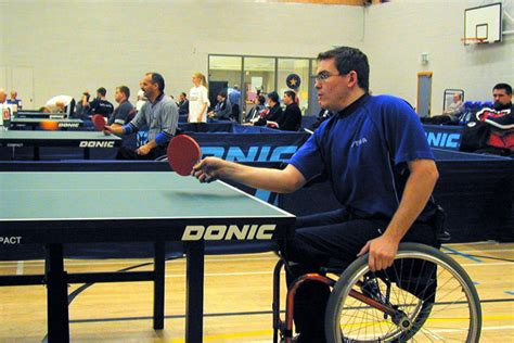 the table for disabled table tennis regional updates kent 2012 year of