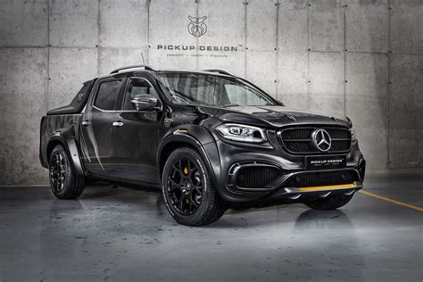 tuner builds wild mercedes benz  class pickup truck