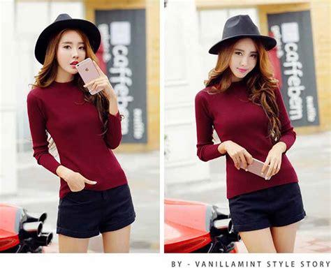 Atasan Wanita Import Murah baju atasan merah rajut import murah myrosefashion