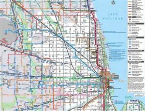 Chicago Bus Map chicago transit authority map chicago pinterest
