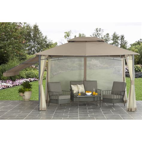 Better Homes And Garden Parker Creek 10 X 12 Cabin Style Patio Gazebo 10 X 12