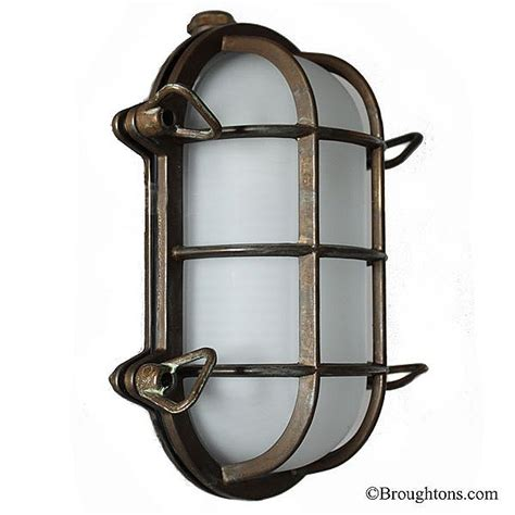 bulkhead outdoor lights oval bulkhead flush outdoor wall light aged copper