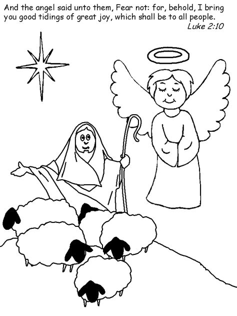 simple nativity coloring page free coloring pages of simple nativity