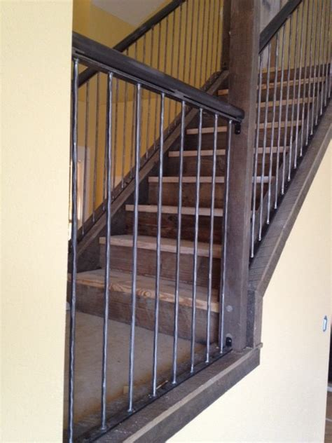 Vintage Stair Handrails antique reclaimed wood and steel railings industrial staircase other metro by