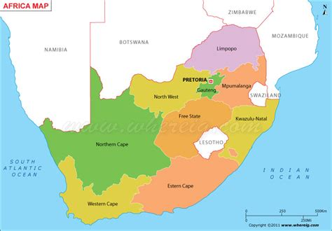 south africa map provinces and capitals south africa map with provinces and capital cities