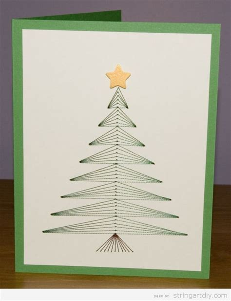 Tree String Pattern - 6 wonderful string card string diy